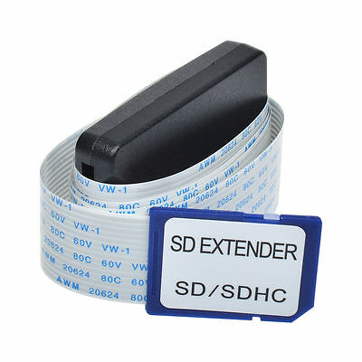 SD Card Adapter Extension Extender Cable SDHC Compatible GPS TV SDXC 25cm
