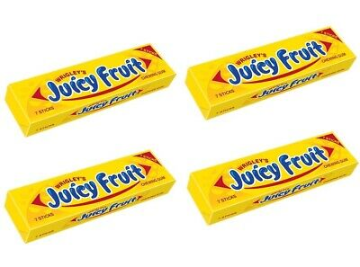 Wrigley's Juicy Fruit Chewing Gum pack of 4