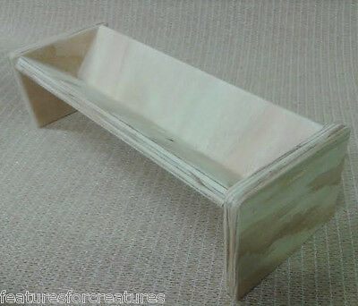 Pine Plywood Freestanding Food Trough For Rabbit,guinea Pig