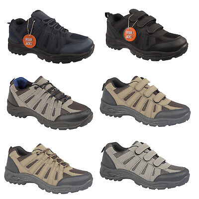 Mens Hiking Boots Walking Rugged Comfortable Trail Trekking Trainers Shoe Size
