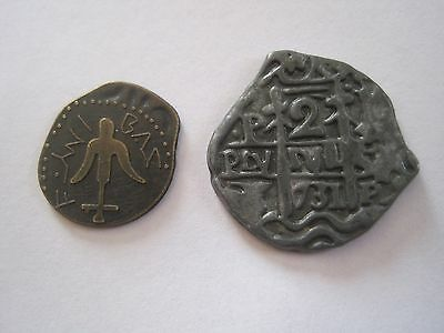 Ancient Looking Lot Of 2 Type 2 Token Coin 0301-1