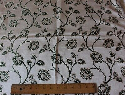 Antique French Lyon Silk Brocade Fabric Textile Sample c1890-1900~Roses