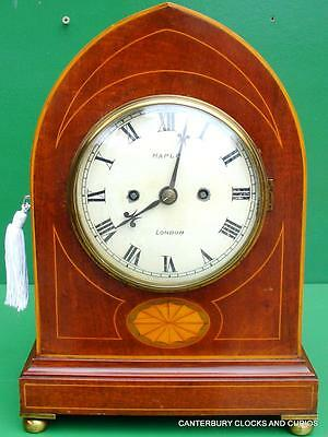 Maple London Edwardian 8 Day Twin Fusee Antique English Bracket Clock