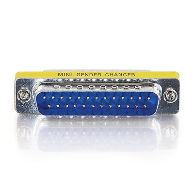 Serial / Parallel Gender Changer - 25 Pin D-Sub (Db-25) - Male - 25 Pin D-Sub (D