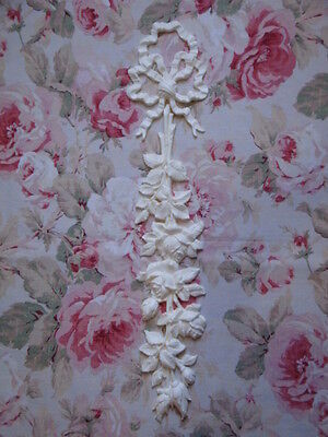 Shabby & Chc French Bow Rose Center Drop Furniture Applique Architectural Onlay