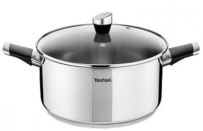 Tefal Emotion 24cm Stainless Steel Induction Stewpot Stockpot Saucepan with Lid