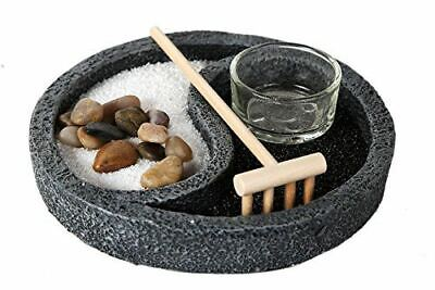 "6"" Diameter Buddha Zen Garden Ying Yang Set for Meditation Use Fengshui Decor"