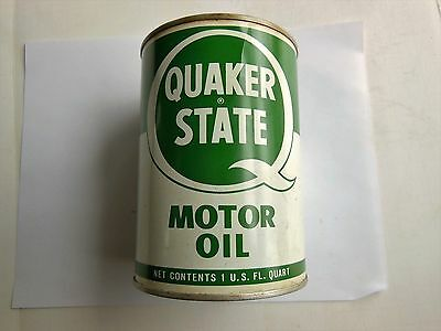 Quaker State Oil Metal Can 1quart Good CONDITION