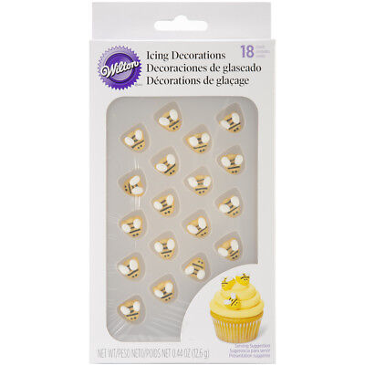 Wilton 710-2916 Bumblebee Cupcake Cake Party Treat Icing Decorations, 18-Pack