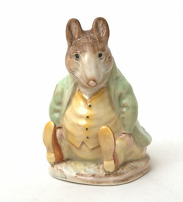 Beswick Beatrix Potter Figurine - Samuel Whiskers BP-2a Gold Oval