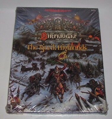 Advanced D&d Dungeons & Dragons 3121 Birthright Rjurik Highlands New Sealed