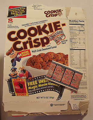 Ralston Cereal Box Cookie Crisp with Magic Movie Viewer Prize 1997
