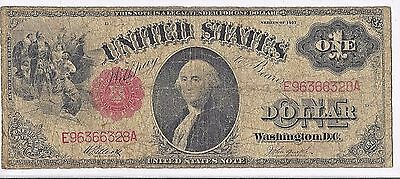 1917 $1 One Dollar Bill Red Seal United States Legal Tender Large Currency Note
