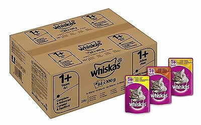 Whiskas Wet Cat Food Pouch for 1+ Adult Mixed Selection in Gravy - 84 x 100 g...