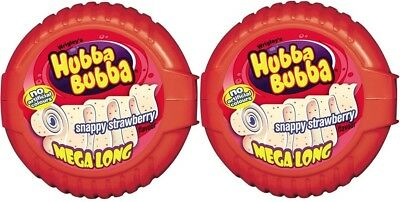 Wrigley's Hubba Bubba Snappy Strawberry Mega Long Bubble Chewing Gum Tape