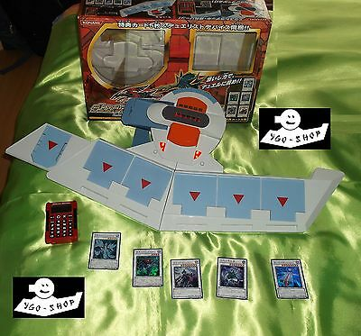 YuGiOh DUELL DISK DX 5Ds +OVP + 6 SYNCHROS disc duel disque duelldisk duelldisc