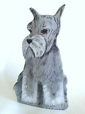 Figural Schnauzer Dog Flower Vase Figurine Dogs by Nina Lyman