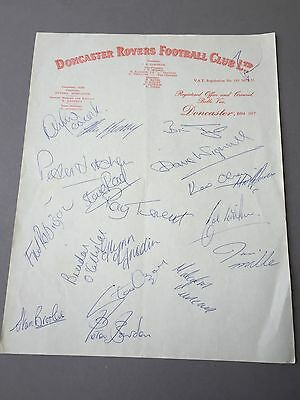 DONCASTER ROVERS FC  signed letter from the 1970's Football autographs