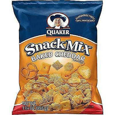 Quaker Snack Mix, Baked Cheddar, 1.75 Ounce (Pack of 64) New