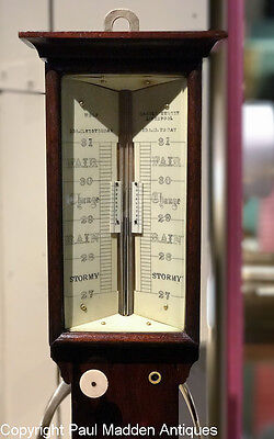 Antique English Marine Barometer Sympiesometer - Wolf, Liverpool