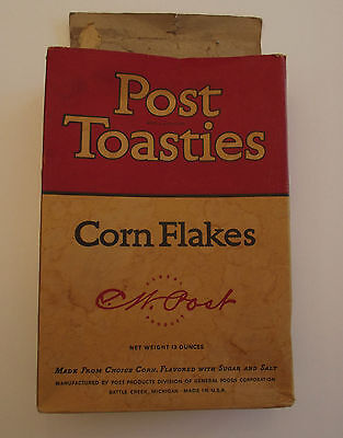 Post Toasties Cereal Box Mickey the Traffic Cop 1939