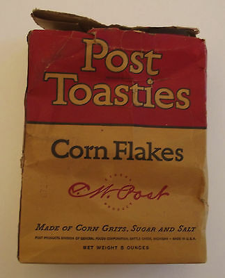 Post Toasties Cereal Box Mickey the Gardner 1937