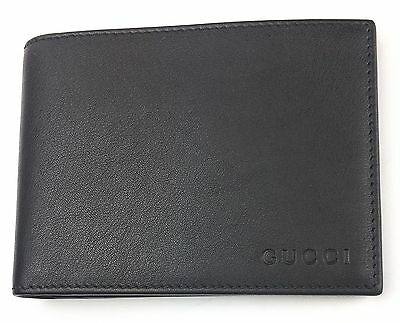 6d3b80820db4 AUTHENTIC New Gucci Men's Black Soft Margaux Calf Leather Wallet #278596