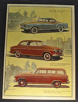 1958 Borgward Isabella Newsweek Brochure Folder TS Nice Original 58