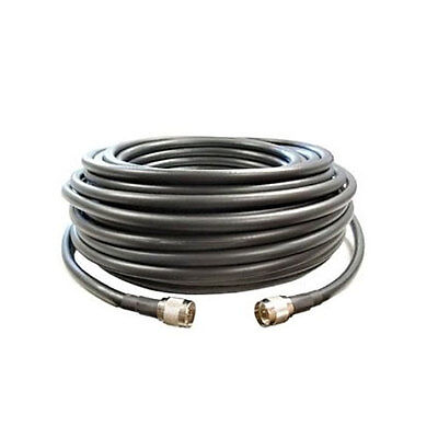 SureCall 100' CM400 Black Ultra-Low-Loss Coaxial Coax Cable w/ N MALE -SC001-100