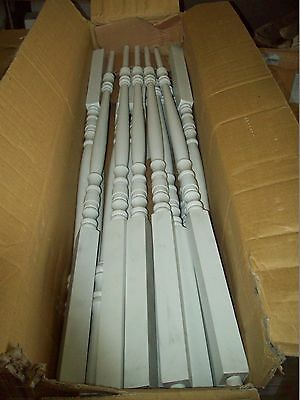 "40 WHITE Decorative PIN TOP Balusters/ Spindles 1 1/4"" X 34"" NEWnBOX,PRIMED 5200"