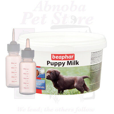 Beaphar Lactol Newborn Puppy Milk & Choice of Bottle Teat, Elongated Ideal Cleft
