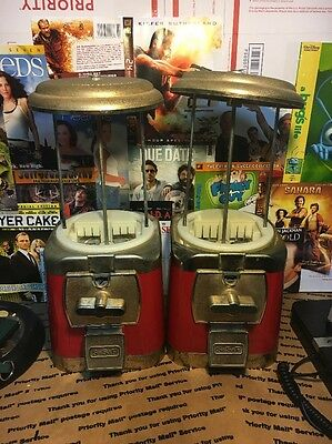 Lot Of 2 SSF Silent Sales Force Vintage Red Gumball Machine