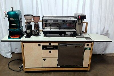 Coffee Cart With Espresso Machine, Coffee Kiosk, Espresso Cart, Coffee Stand