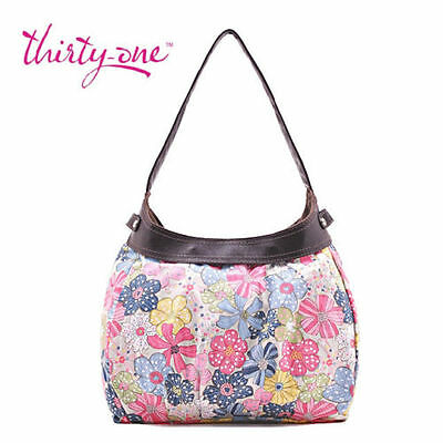 Thirty one City Skirt Purse Hobo Hand Tote bag in Free Spirit Floral 31 gift new