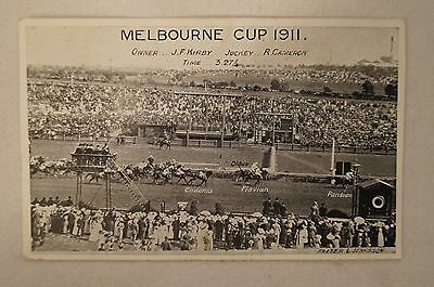 Collectable - Vintage - Rare - Postcard - The 1911 Melbourne Cup.- Parisian