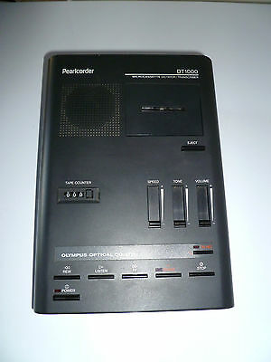 Olympus Pearlcorder DT1000 Microcassette Dictator/Transcriber *See Description*