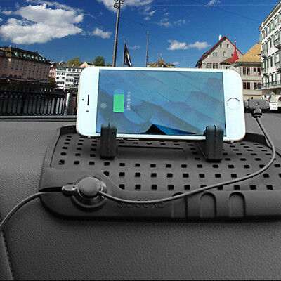 Magnetic Suction Car HolderAnti Slip Silicone Car Charging Stand Mat Supporting
