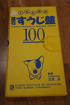 Kumon Institute of Technology Magnetic Number Board Educational RARE 1981