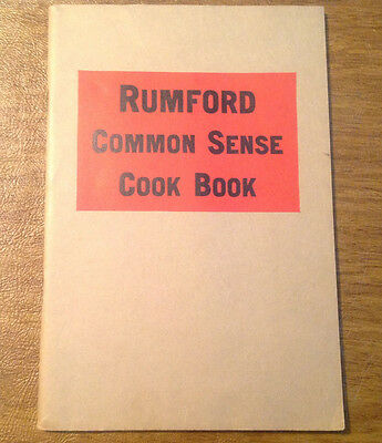Vintage c1930s Rumford Baking Powder Common Sense Cook Book by Lily Wallace