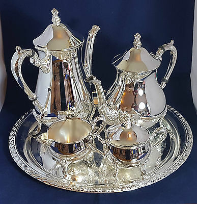 Beautiful Stunning High Quality Heavy Silver Plated Tea Set