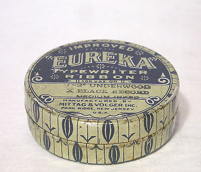 Eureka Typewriter Ribbon Tin Mfg. by Mittag&Volger Inc. Park Ridge N.J. U.S.A