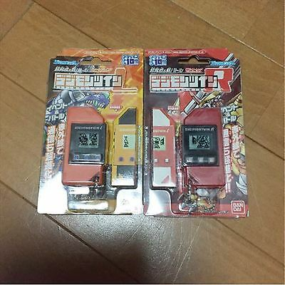 BANDAI DIGIMON TWIN LEFT(Sweed orange) and RIGHT(Victory red) Free shipping Used