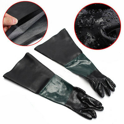"Rubber Latex Gloves Replacement 24""/60cm For Sandblaster Sand Blast Cabinet"