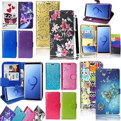 For Samsung Galaxy Various Mobile Phones Wallet Leather Case Flip Stand Cover