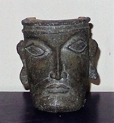 Ancient style painted plaster and terracotta mask