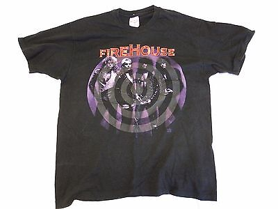 Vintage Firehouse Hold Your Fire T-Shirt - Rock, Hair Metal, 80s Concert