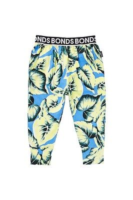 Baby boys Bonds lightweight summer printed trackie pants Size 0  1  2