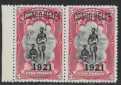 Belgian Congo stamps 1921 OBP 93A Pair  MNH  VF  Scarce Pair!