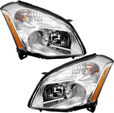 Halogen Headlights Headlight Embly W Bulb New Pair Set For 2007 Nissan Maxima