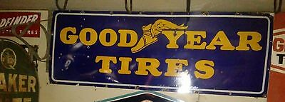 Please read full description 1930s porcelain Good Year Tires Sign